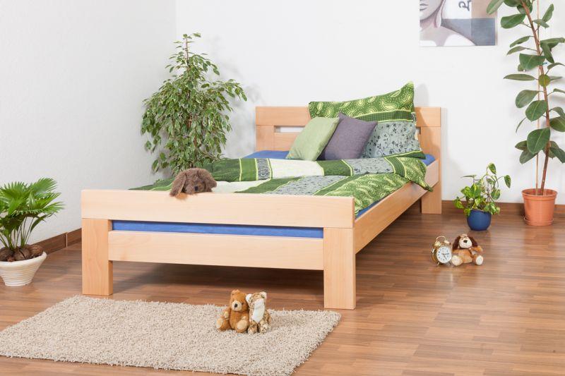 """Eenpersoonsbed / logeerbed """"Easy Premium Line"""" K6, 140 x 200 cm massief beukenhout, natuur"""