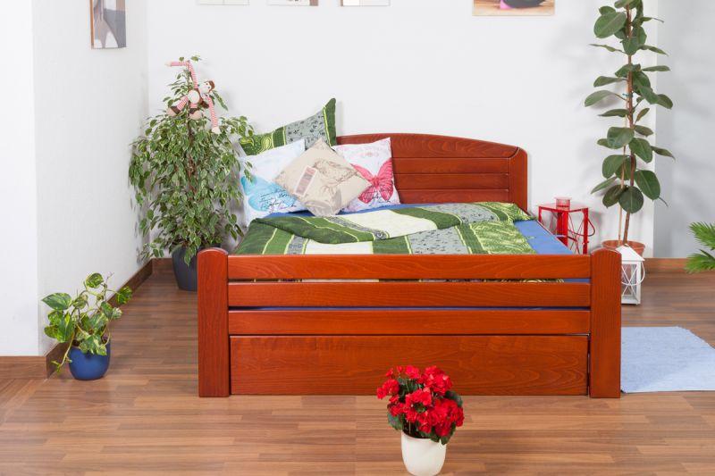 """Jeugdbed """"Easy Premium Line"""" K7 incl.1 afdekplaat, 160 x 200 cm massief beukenhout, kleur: kersenhout gelakt"""
