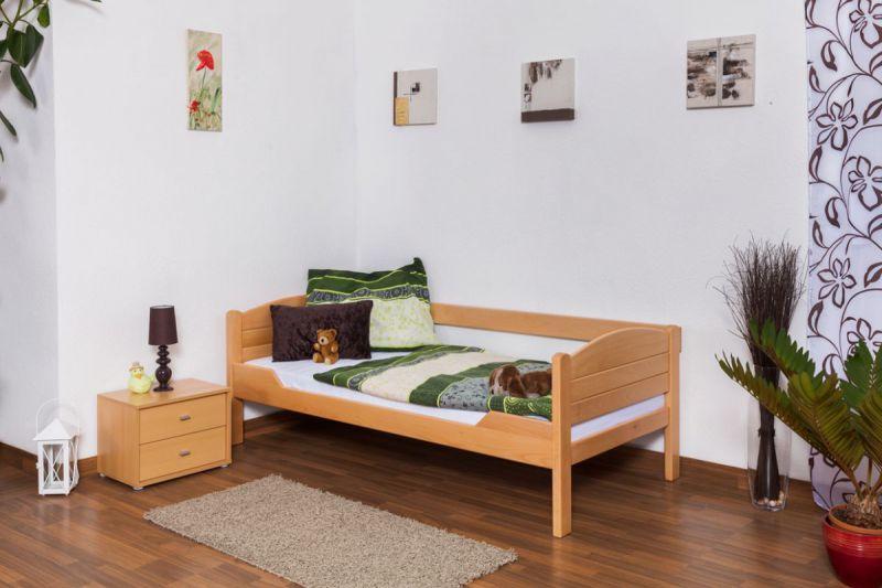 """Eenpersoonsbed / logeerbed """"Easy Premium Line"""" K1/s, 90 x 190 cm massief beukenhout naturel"""