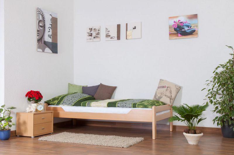 """Eenpersoonsbed """"Easy Premium Line"""" K1/1n, massief beukenhout natuur - afmetingen: 90 x 200 cm"""