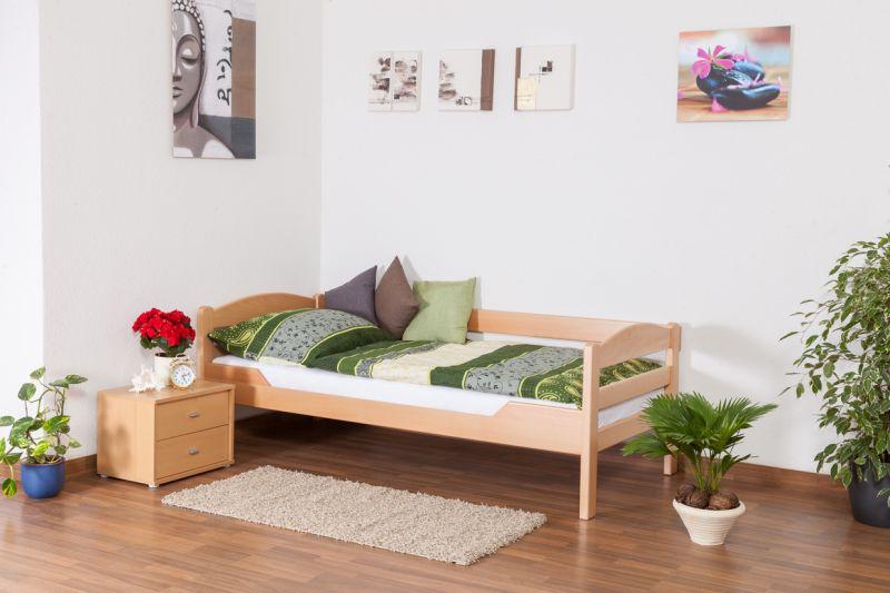 """Eenpersoonsbed """"Easy Premium Line"""" K1/n/s, massief beukenhout natuur - afmetingen: 90 x 190 cm"""