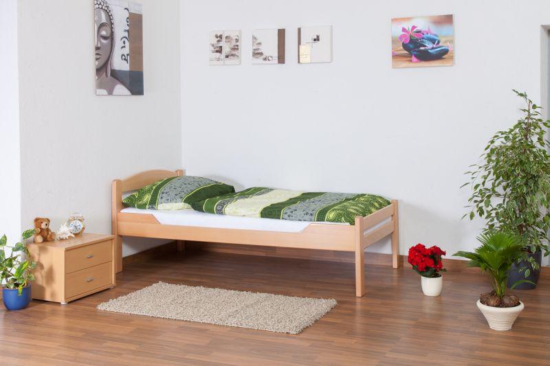 """Eenpersoonsbed """"Easy Premium Line"""" K1/2n, massief beukenhout natuur - Afmetingen: 90 x 190 cm"""