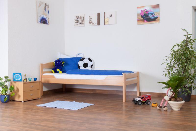 """Kinderbed / jeugdbed """"Easy Premium Line"""" K1/2n, massief beukenhout natuur - afmetingen: 90 x 200 cm"""