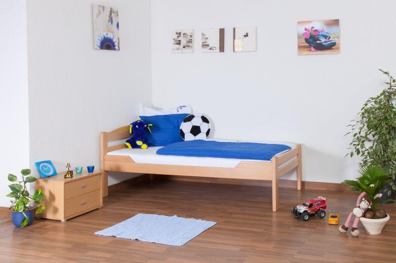 """Kinderbed / jeugdbed """"Easy Premium Line"""" K1/2n, massief beukenhout natuur - afmetingen: 90 x 190 cm"""