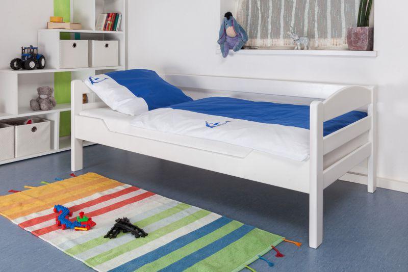 """Kinderbed / tienerbed  """"Easy Premium Line"""" K1/n Sofa, massief beukenhout wit gelakt - afmetingen: 90 x 190 cm"""