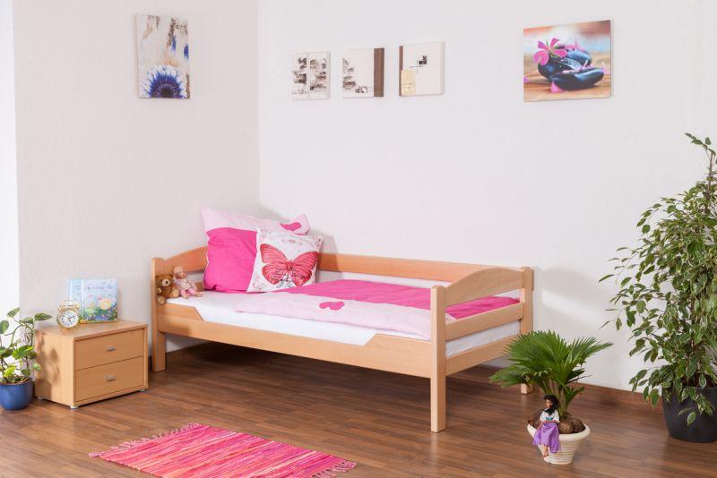 """Jongerenbed / kinderbed """"Easy Premium Line"""" K1/n/s, massief beukenhout natuur - afmetingen: 90 x 200 cm"""