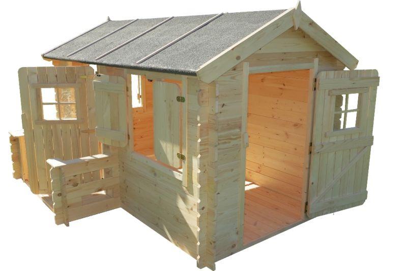 kinderspeelhuisje / kindertuinhuisje Deluxe Rodney Park - 2,35 x 1,75 meter gemaakt van 19mm blokhutprofielplanken