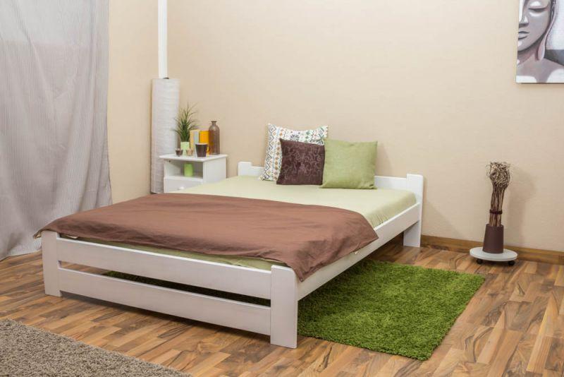 Futonbed / , vol hout, bed massief grenen wit gelakt A9, incl. lattenbodem - afmetingen 140 x 200 cm