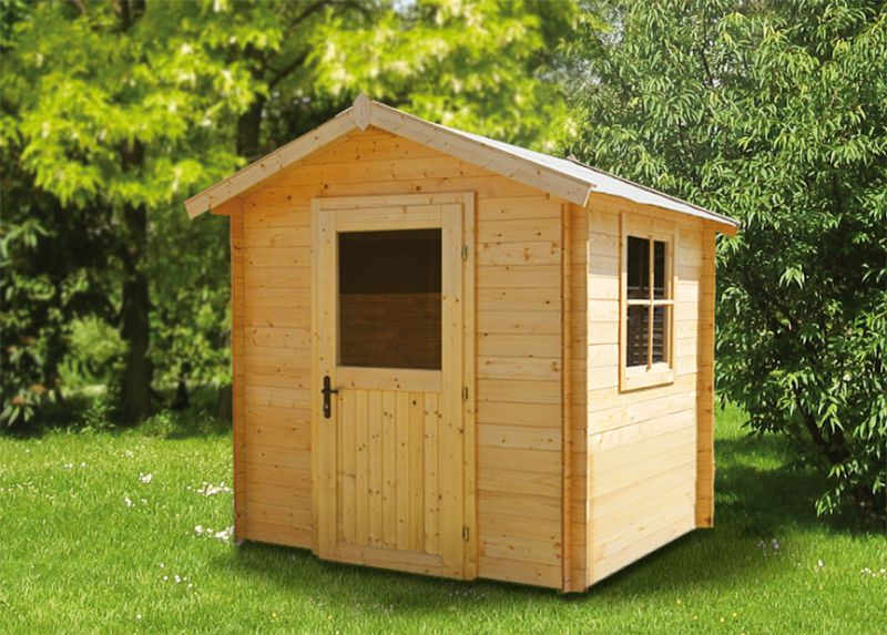 "tuinhuis ""Wiesenblume"" - 2.40 x 2.40 meter van 19 mm houtplanken"