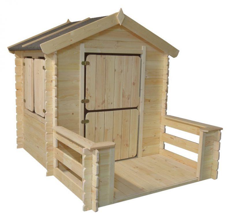 speelhuisje / kindertuinhuisje Play Park - 1,75 x 1,30 meter gemaakt van 19mm blokhutprofielplanken