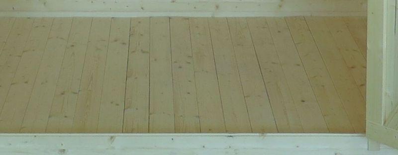 Vloeren geschikt voor blokhutprofiel voor tuinhuizen Graz en Velden, incl. onderconstructie
