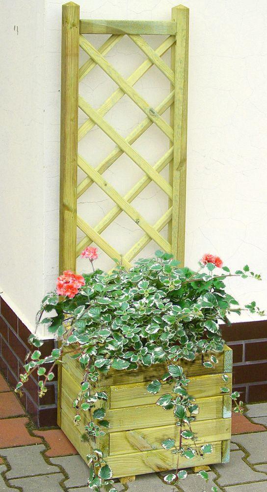 Plantenbak met hekwerk Alata 1 - Afmetingen: 40 x 40 x 140 cm (B x D x H)
