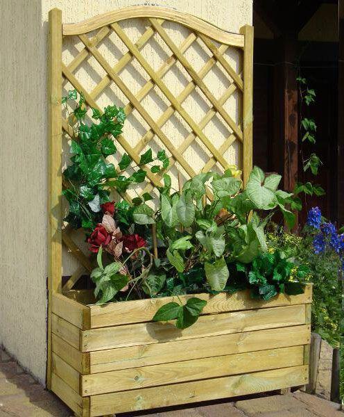 Plantenbak met hekwerk Alata 3 - Afmetingen: 90 x 40 x 140 cm (B x D x H)