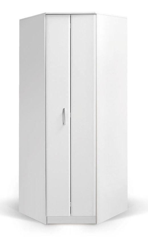 Draaideurkast / hoekkledingkast Muros 06, kleur: wit - 222 x 87 x 50 cm (H x B x D)