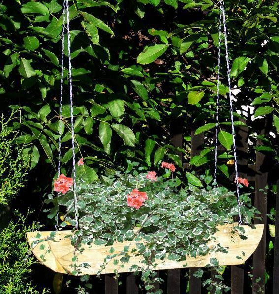 plantenhangmand Fruticosus - afmetingen: 90 x 18 x 15 cm (b x d x h)