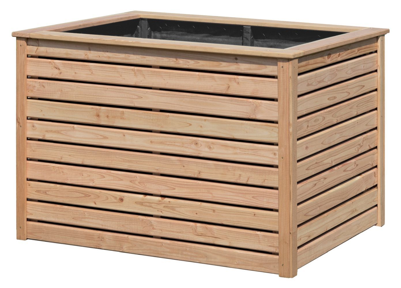 Verhoogd groente bed tuin 02 - gemaakt van Larikshout, FSC® - afmetingen: 125 x 85 x 80 cm (B x D x H)