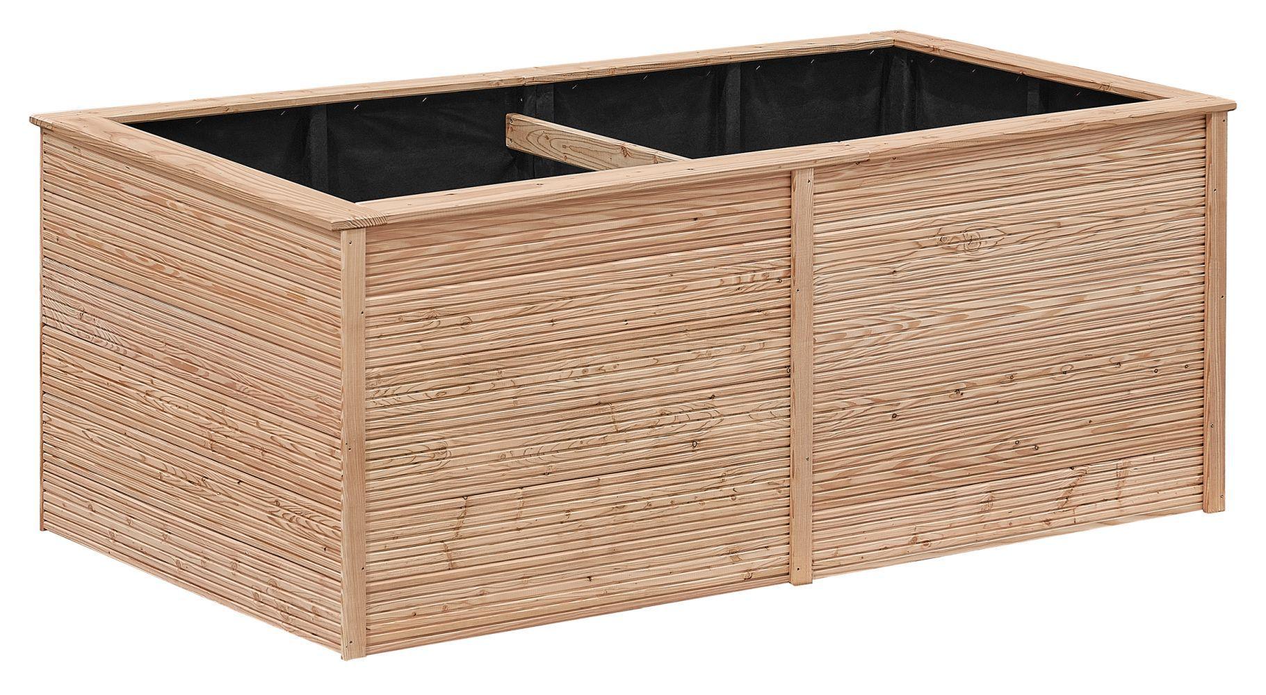 Verhoogd groente bed tuin 01 - gemaakt van Larikshout, FSC® - afmetingen: 206 x 103 x 86 cm (B x D x H)