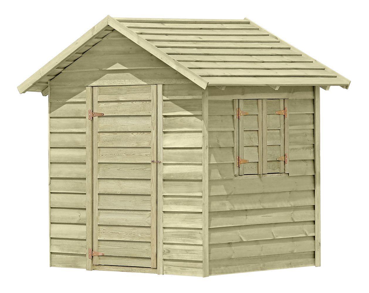 speelhuis/ kindertuinhuisje K45 - Afmetingen: 1,50 x 1,50 meter, FSC®
