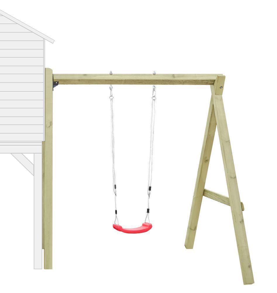 Aanbouw enkele schommel 01 voor kinderspeelhuisje, FSC®
