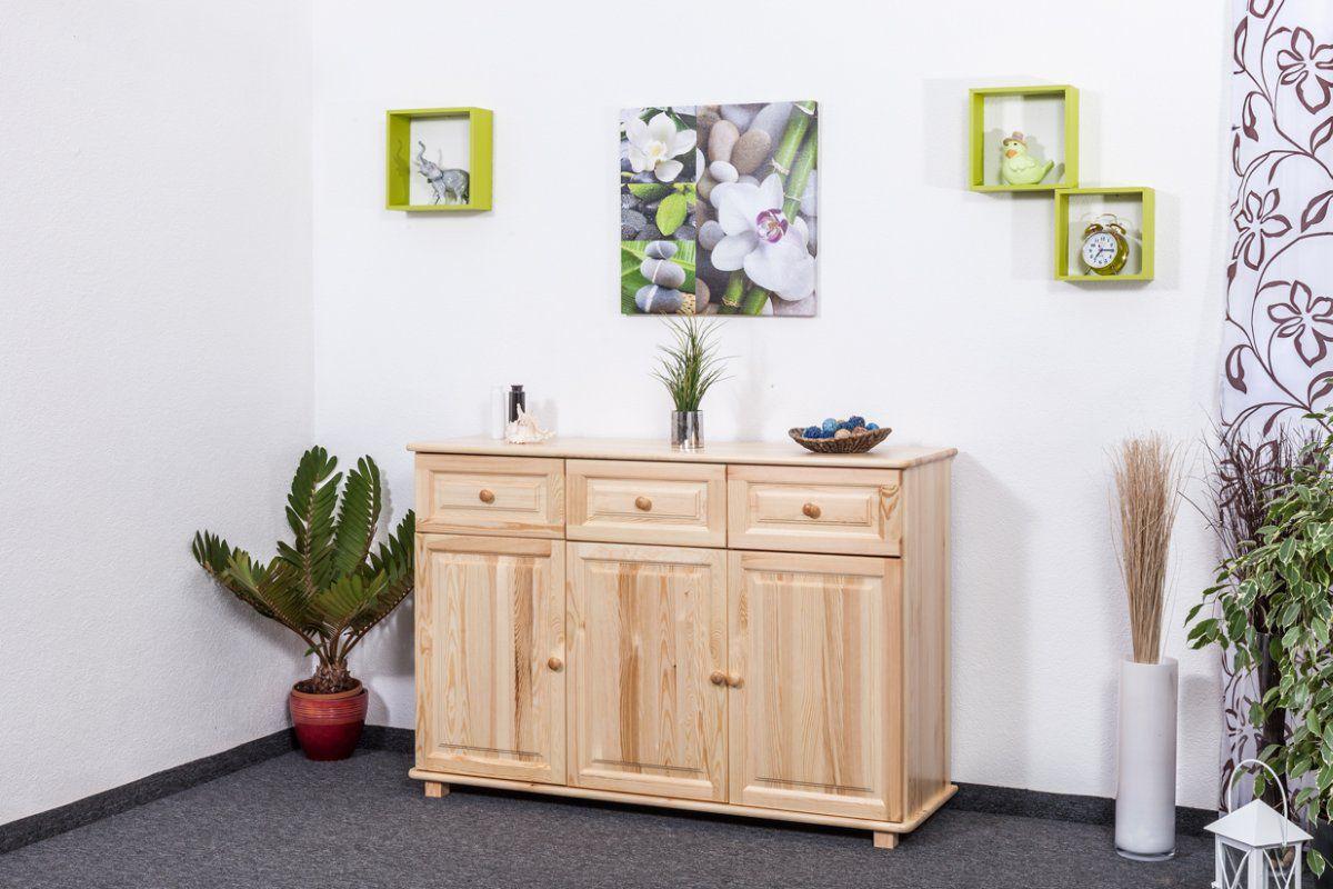 ladenkast massief grenenhout, naturel 009 - afmetingen 100 x 150 x 45 cm (h x b x d)