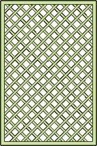 hekwerk / latwerk voor paviljoen Vitalba - afmetingen: 120 x 180 cm (B x H)