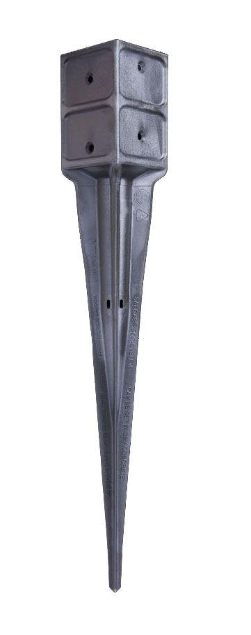 paalhouder / Paalpunt houder - Afmetingen: 9 x 9 cm