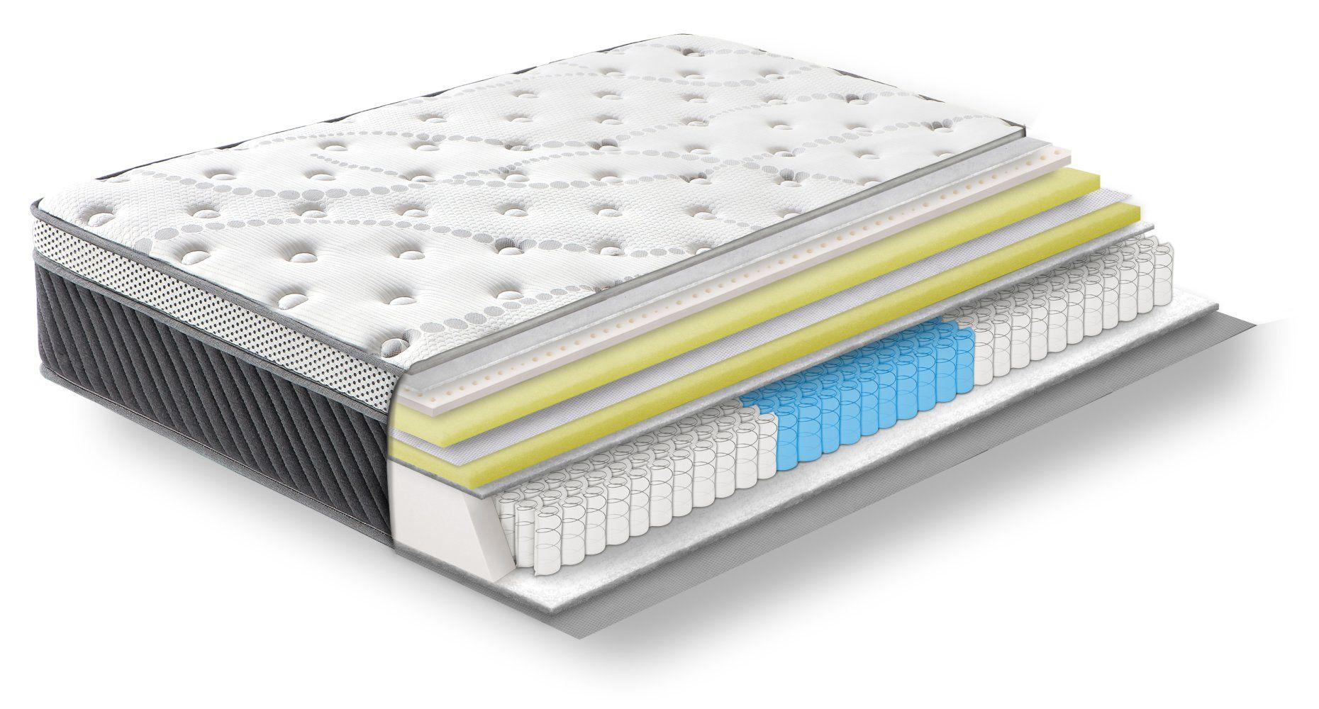 Steiner Premium matras Cozy met 3-zone pocketveren kern - afmeting: 140 x 200 cm, hardheidsgraad H4, hoogte: 25 cm