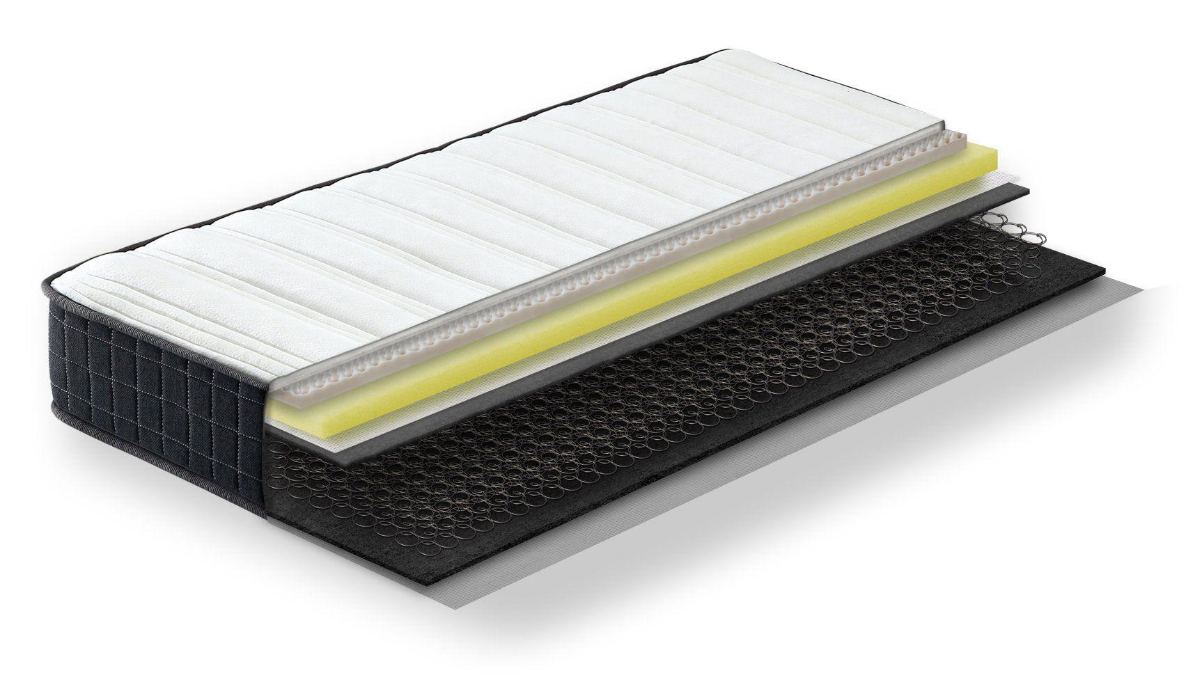 Steiner Premium matras Dream met Bonell veerkern - afmeting: 140 x 200 cm, hardheidsgraad H2-H3, hoogte: 20 cm