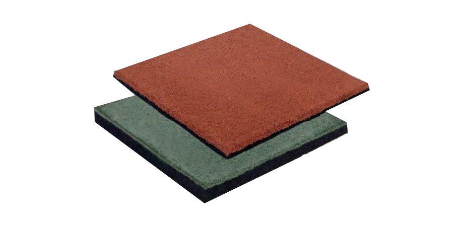 veiligheidtegel, afmetingen: 50 x 50 cm (B x D), dikte: 2,5 cm - Kleur: rood