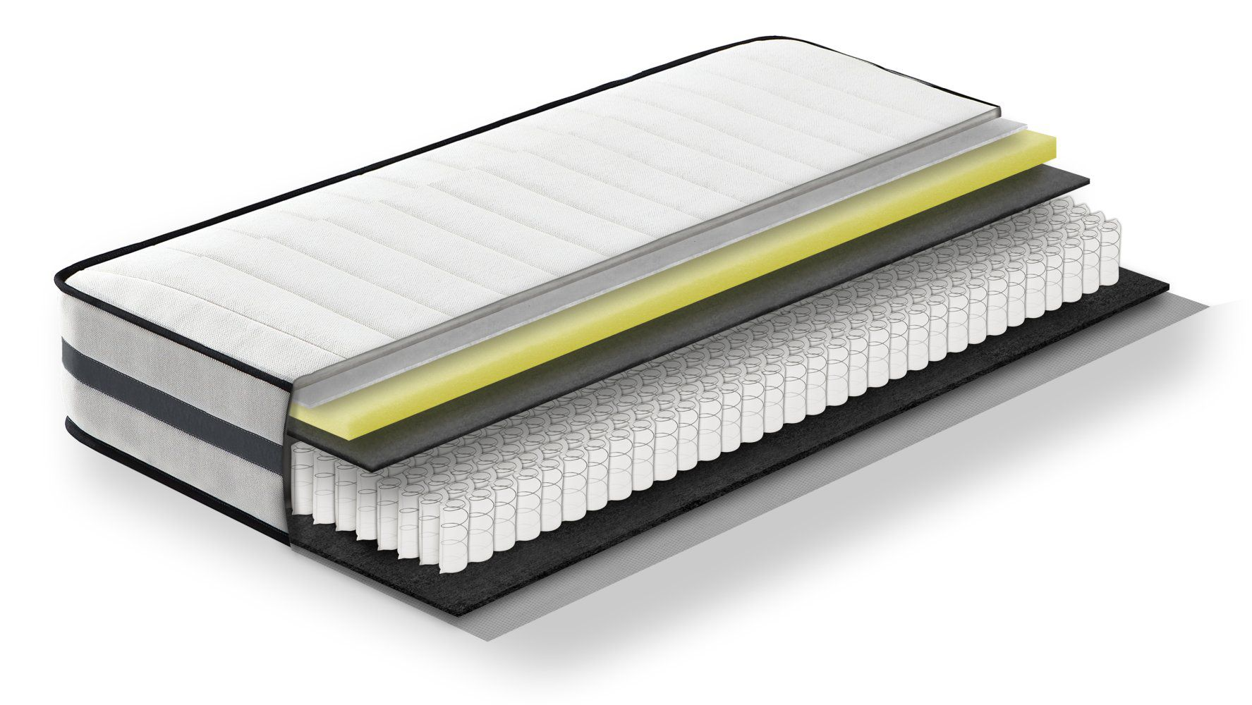 Steiner Premium matras Fantasy met pocketveren kern - afmeting: 90 x 190 cm, hardheidsgraad H2-H3, hoogte: 22,5 cm