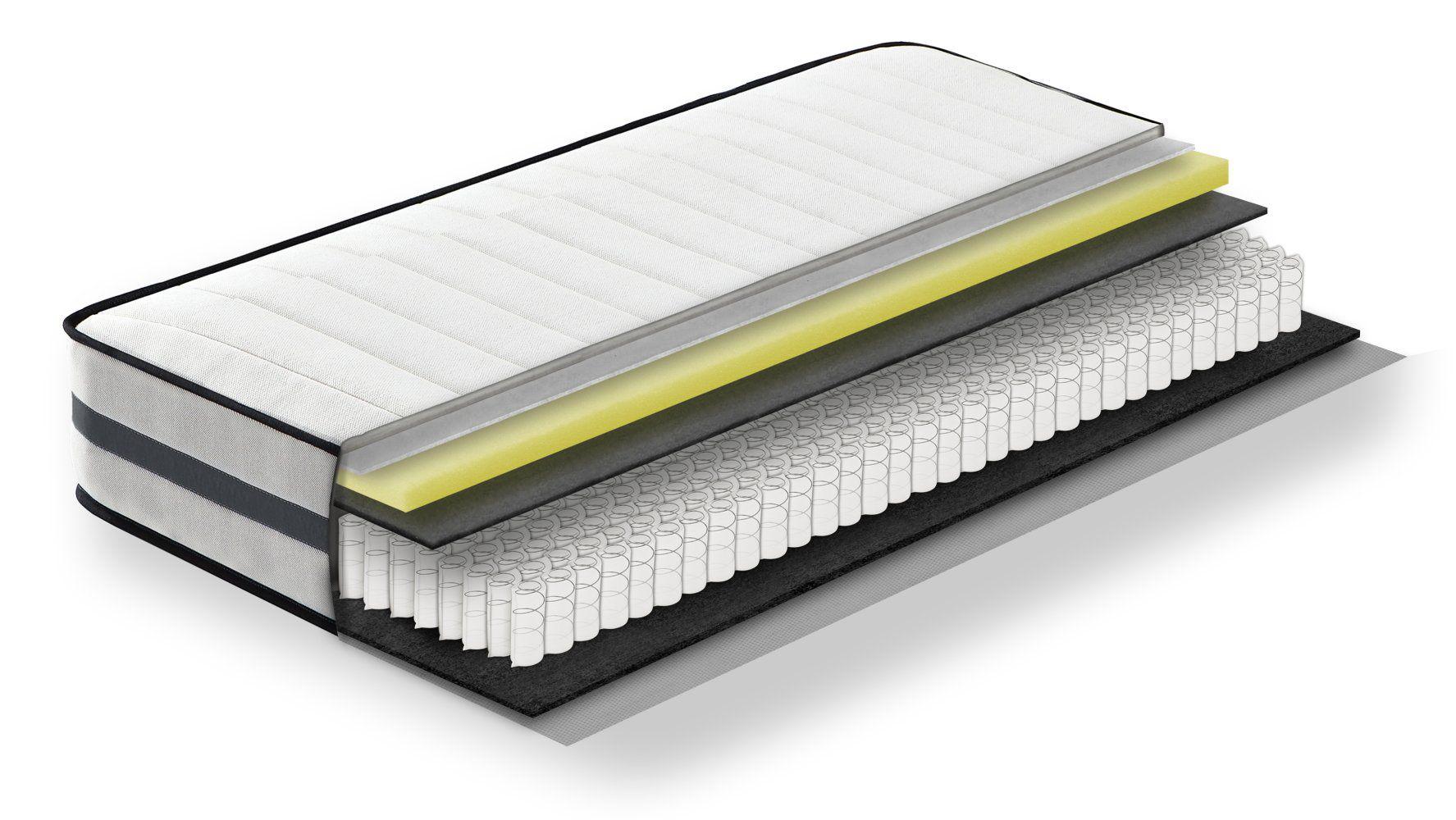 Steiner Premium matras Fantasy met pocketveren kern - afmeting: 140 x 200 cm, hardheidsgraad H2-H3, hoogte: 22,5 cm