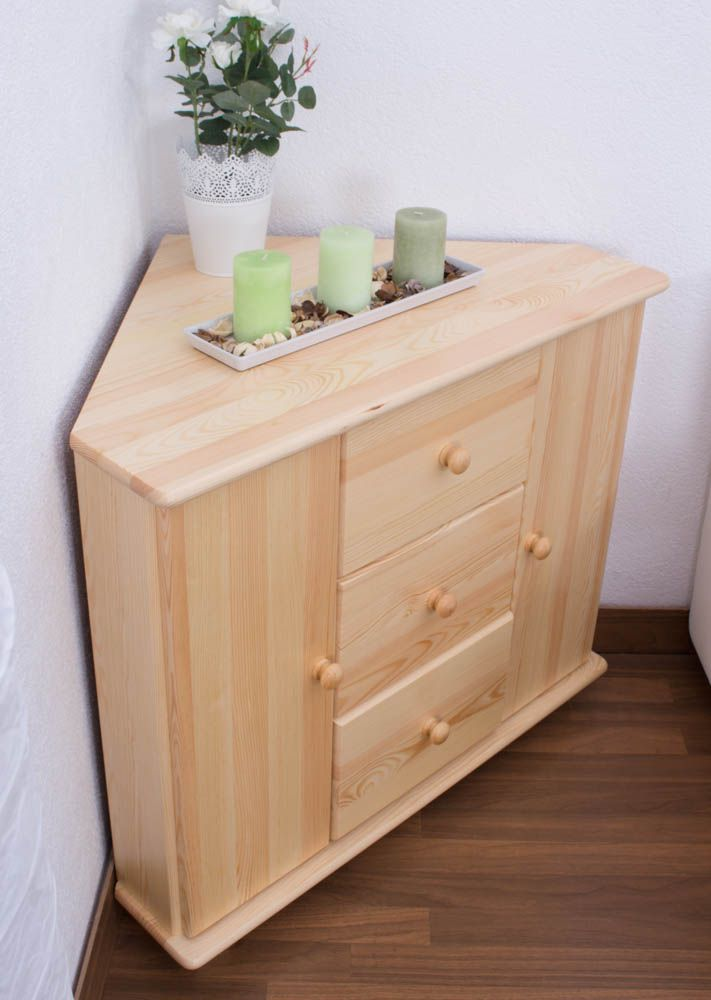 ladenkast massief grenenhout, naturel 055 - afmetingen 78 x 90 x 60 cm (H x B x D)
