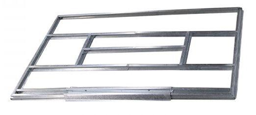 Onderconstructie voor metalen berging / tuinhuis, model Kompakt 2