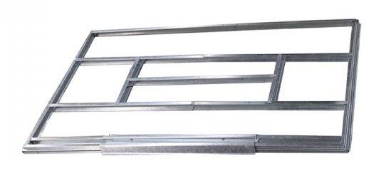 Onderconstructie voor metalen berging / tuinhuis, model Kompakt 4