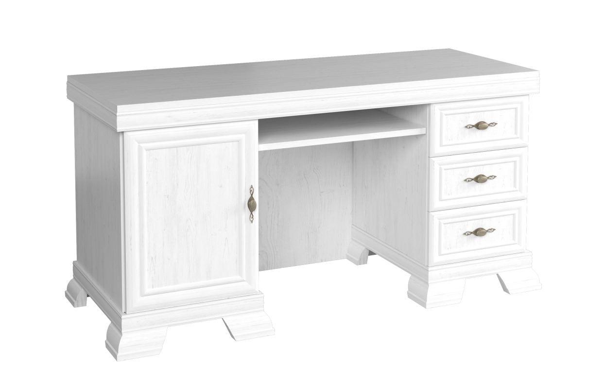 Sentis 06 bureau, kleur: grenen wit - 75 x 149 x 61 cm (H x B x D)