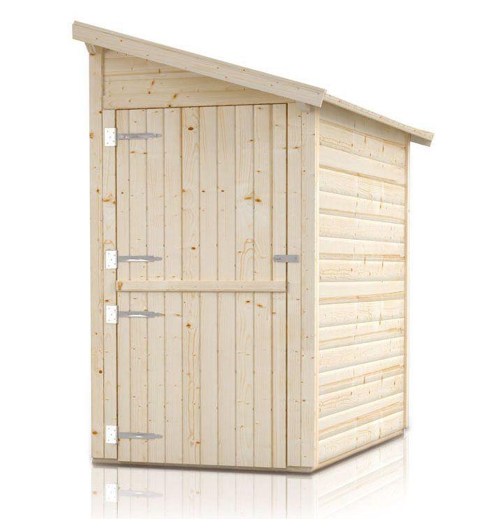 """aanbouw kast/ berging """"Ordnung"""" - ontwerp: Ordnung 1, buitenafmetingen met dak: 180 x 124 cm, buitenafmetingen zonder dak: 150 x 120 cm, binnenafmetingen: 142 x 116 cm"""