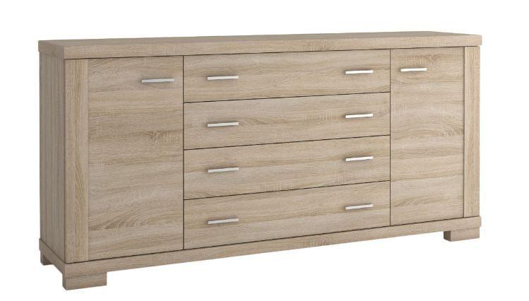 "dressoir / ladekast / sideboard kast ""Temerin"" Kleur Sonoma eiken 09 - Afmetingen: 85 x 180 x 42 cm (H x B x D)"