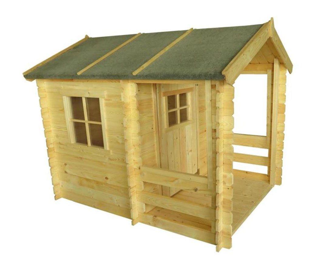 kindertuinhuisje Lucky Park - 1,75 x 1,30 meter gemaakt van 19 mm hout.