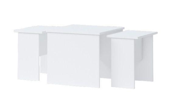 Kinderkamer - tafel Benjamin 09, 3 delen, kleur: wit