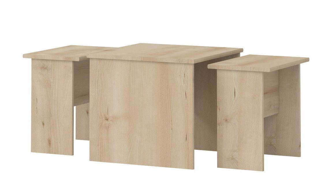 kinderkamer - tafel Benjamin 09, 3-delig, kleur: beuken