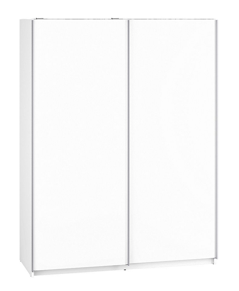 Schuifdeurkast / kleerkast Getornd 07, kleur: wit - Afmetingen: 200 x 151 x 62 cm (H x B x D)