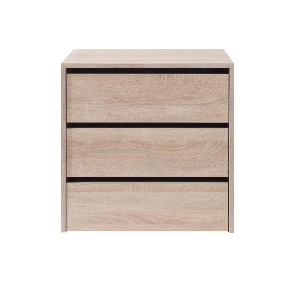 Extra lade(n) -inzetstuk voor Zwalm serie, kleur: eiken - Afmetingen: 60 x 60 x 45 cm (H x B x D)