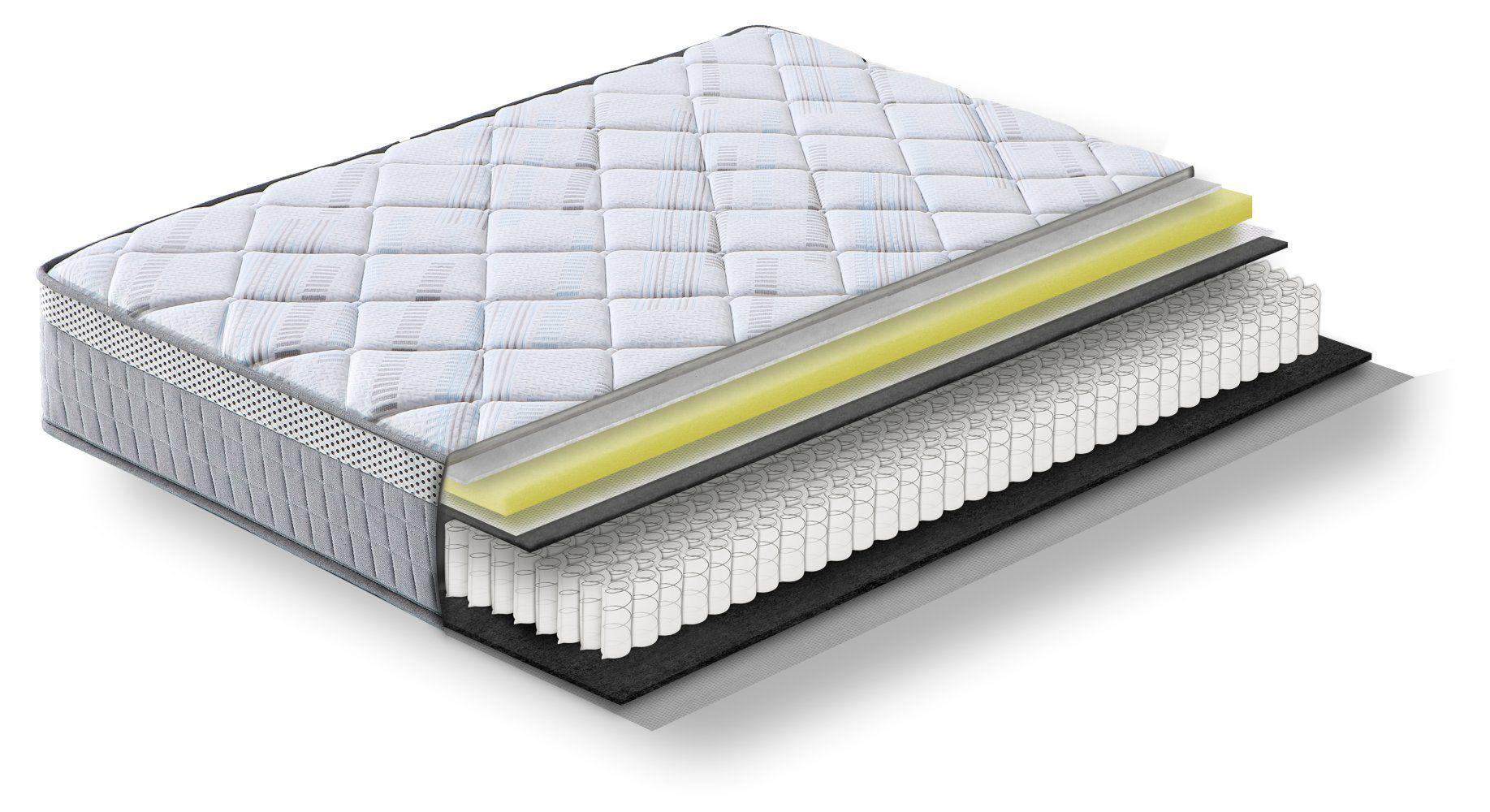 Steiner Premium matras Wonder met pocketveren kern - afmeting: 90 x 190 cm, hardheidsgraad H3, hoogte: 25 cm