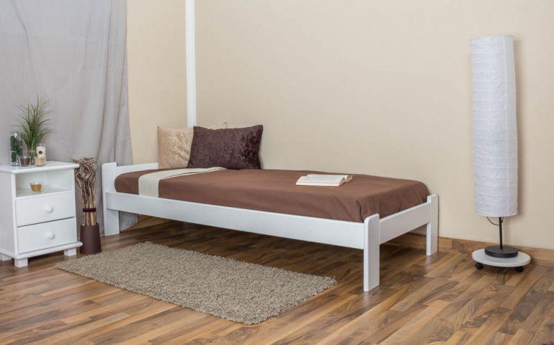 Futonbed / , vol hout, bed massief grenen wit gelakt A8, incl. lattenbodem - afmetingen: 80 x 200 cm